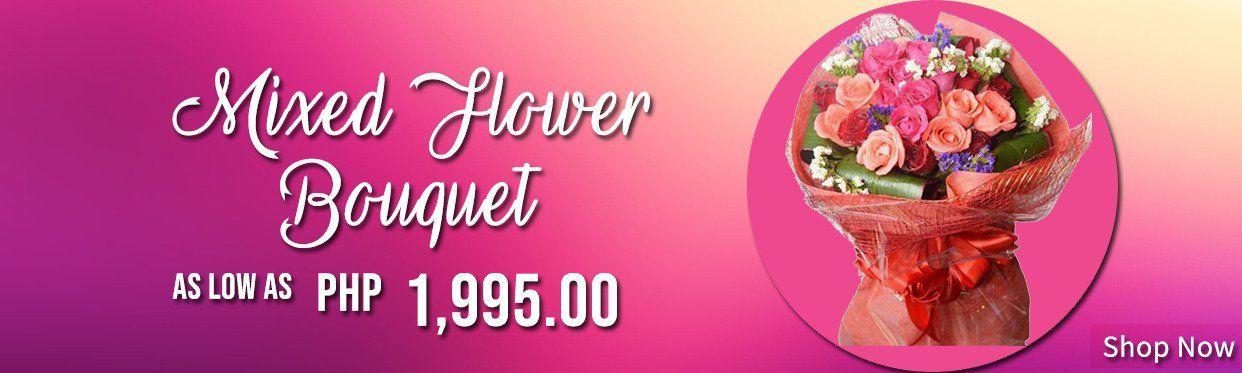 Mixed Flower Bouquet Arrangements