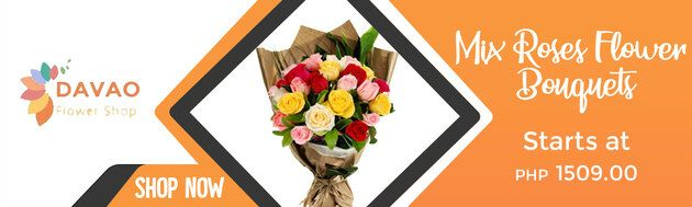 Mix roses Flower Bouquets Delivery in Davao City