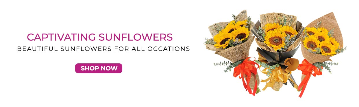 Affordable Sunflower Flower Bouquets