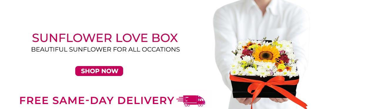 Sunflower love box