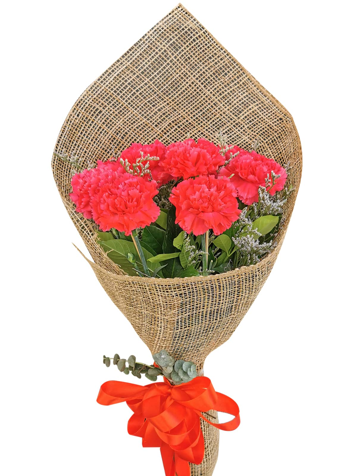 Carnation Fuchsia Pink Burlap ph