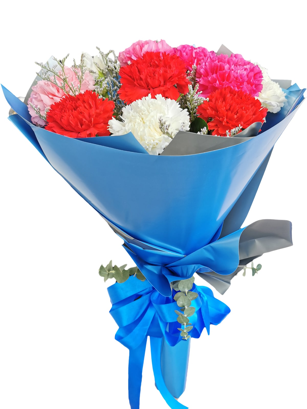 MIX Carnation Korean Blue Silver