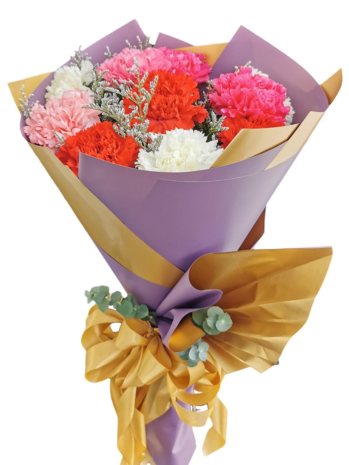 MIX Carnation Korean Purple Gold