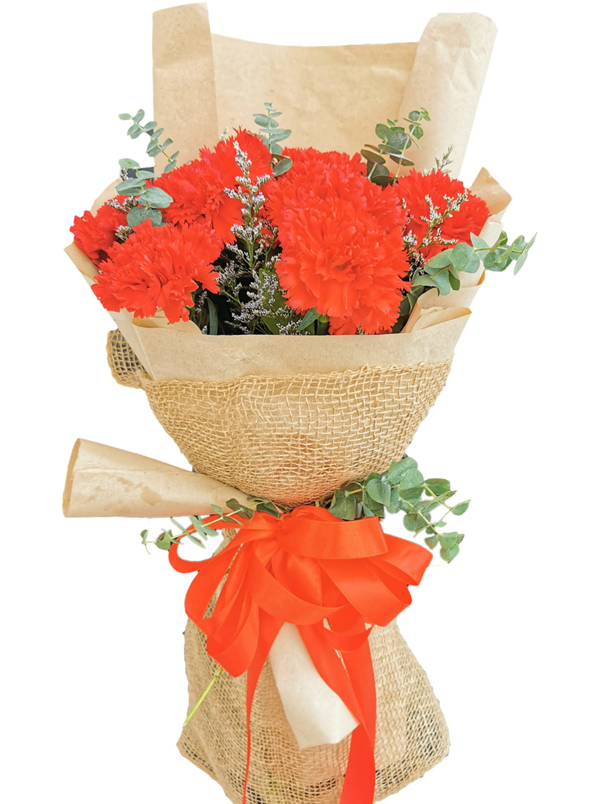 RED Carnation Kraft Jute