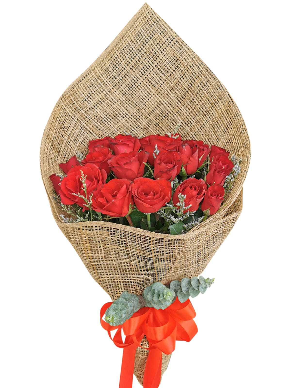 Red Roses 24/36 Burlap ph
