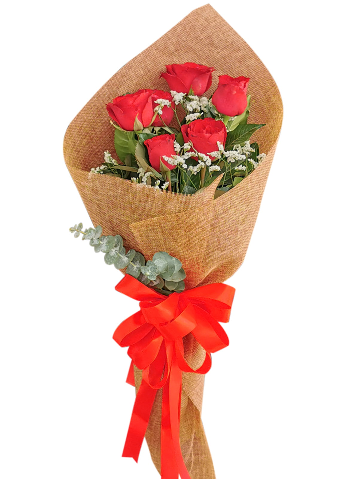 Red Roses 6 Burlap CH