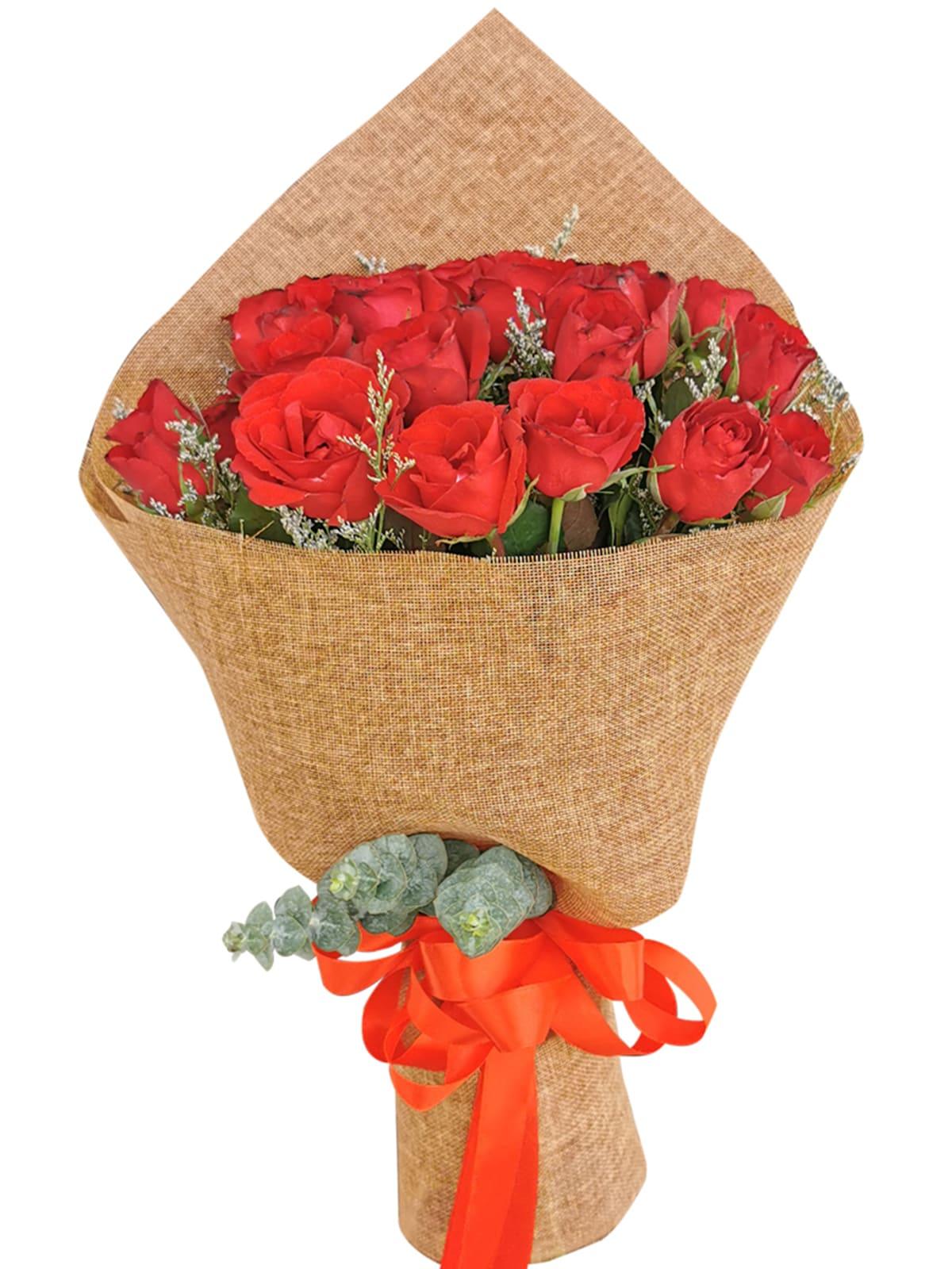Red Roses 24 Burlap CH
