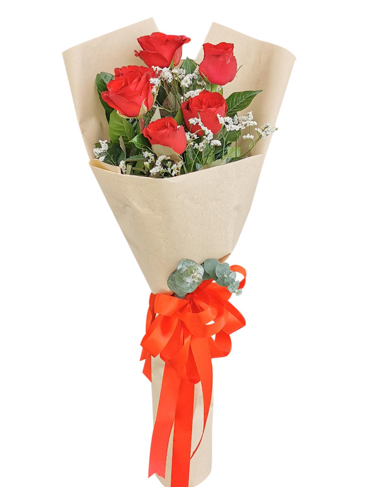 Red Roses 6 Kraft