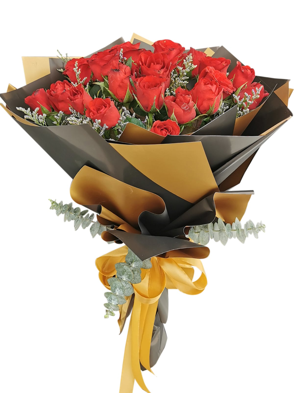 Red Roses 24 Korean Black Gold