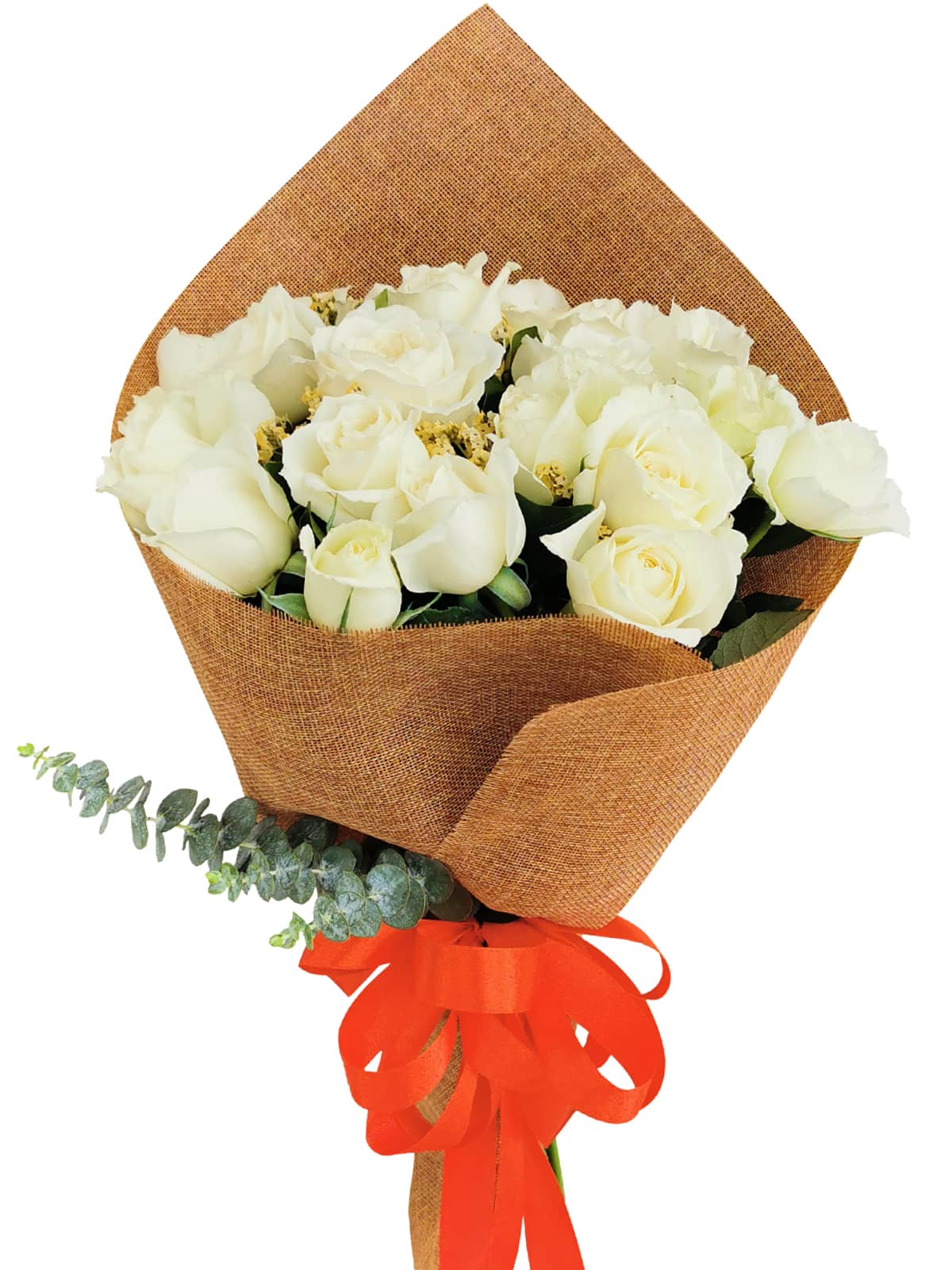 White Rose 24/36 Burlap ch
