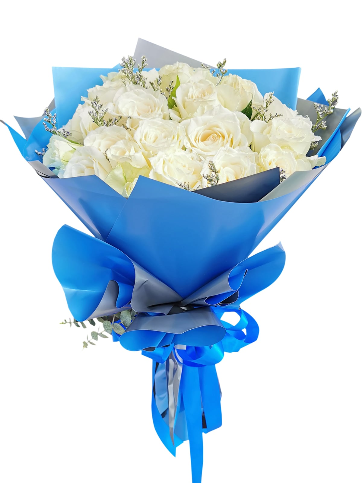 White Rose 24/36 Blue Silver