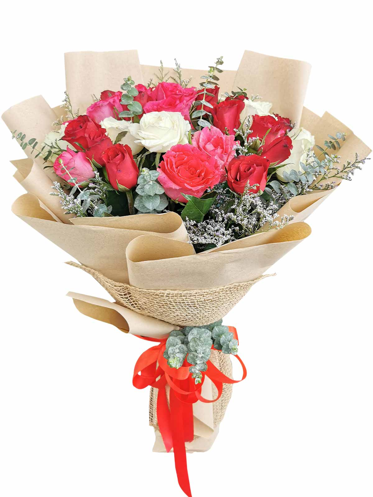 Mix Rose Kraft Jute 36