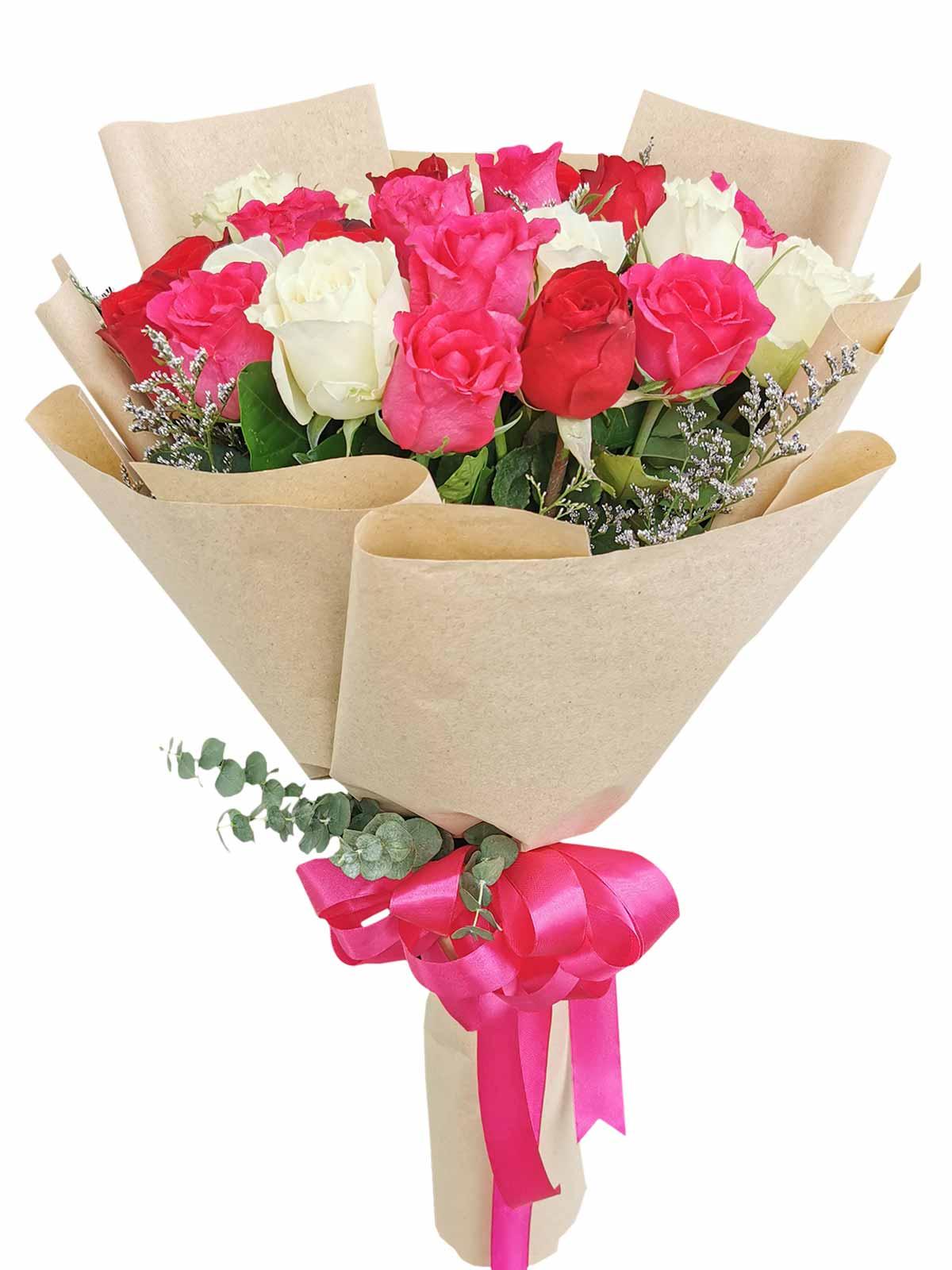 Mix Rose Kraft only 24 (pink ribbon)