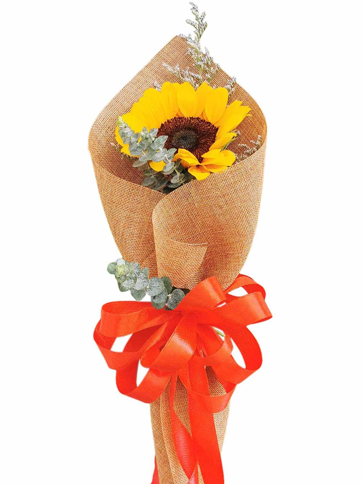 Sunflower Burlap ch 1/3