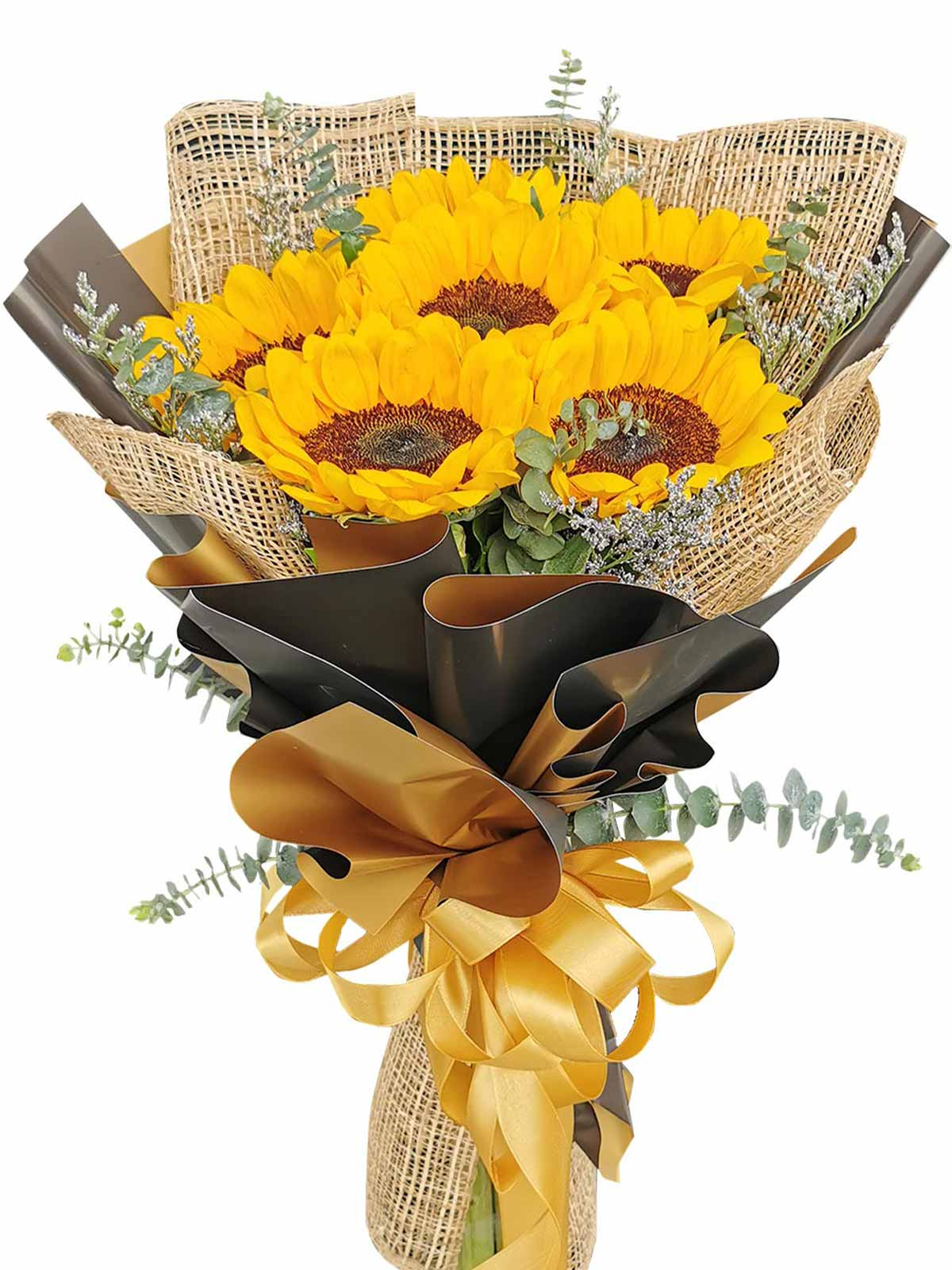 Sunflower Burlap BG 6