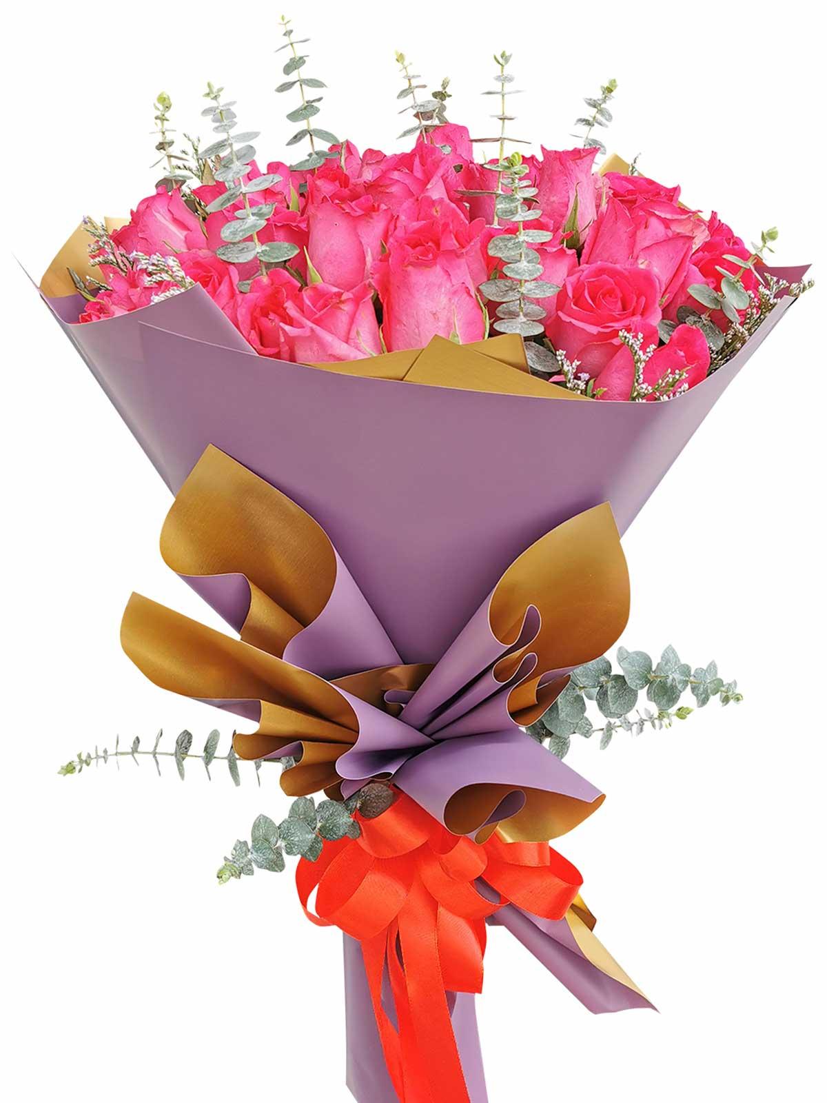 Pink Roses 36 Korean Purple Gold