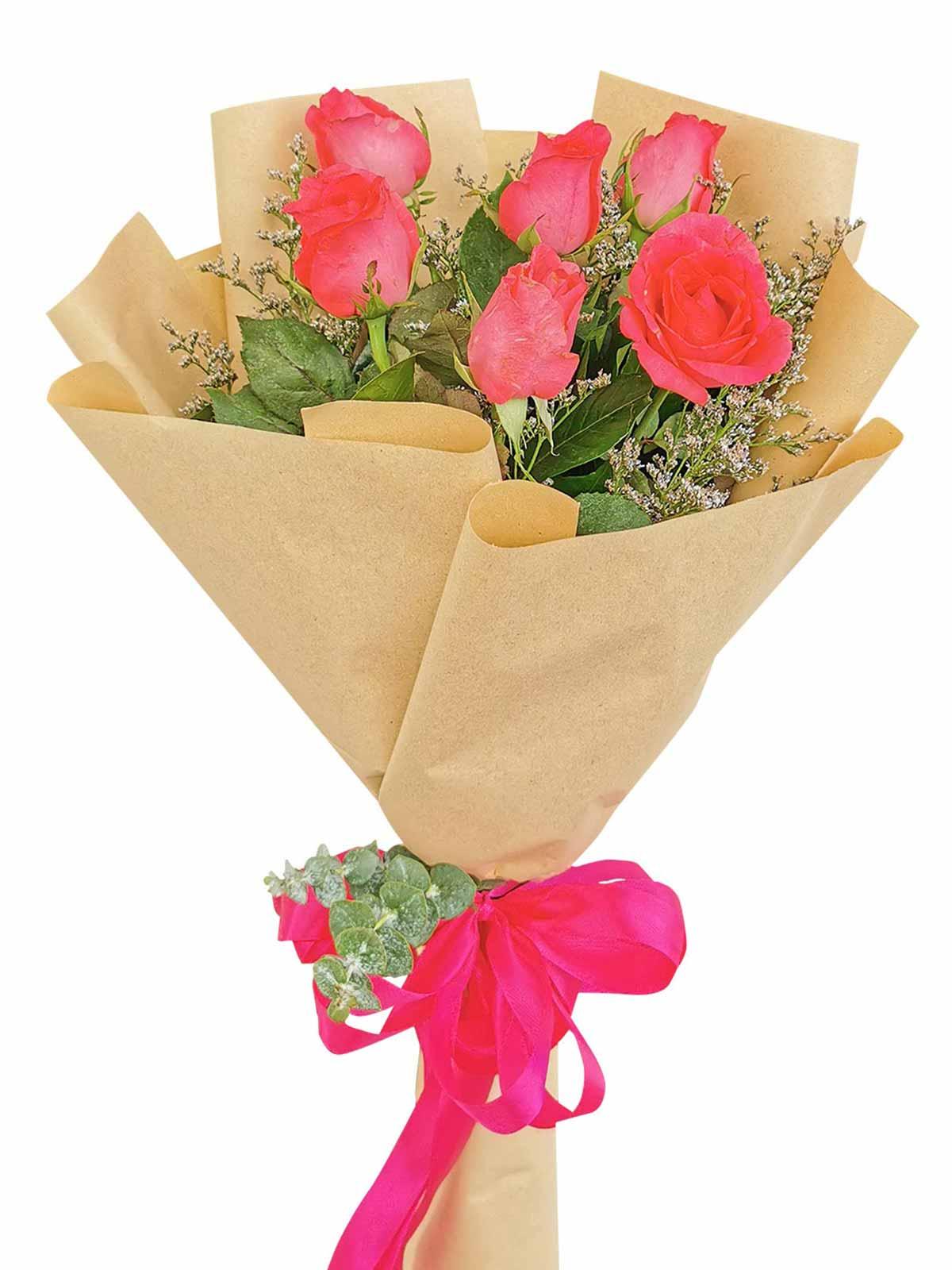 Pink Roses 6 Kraft