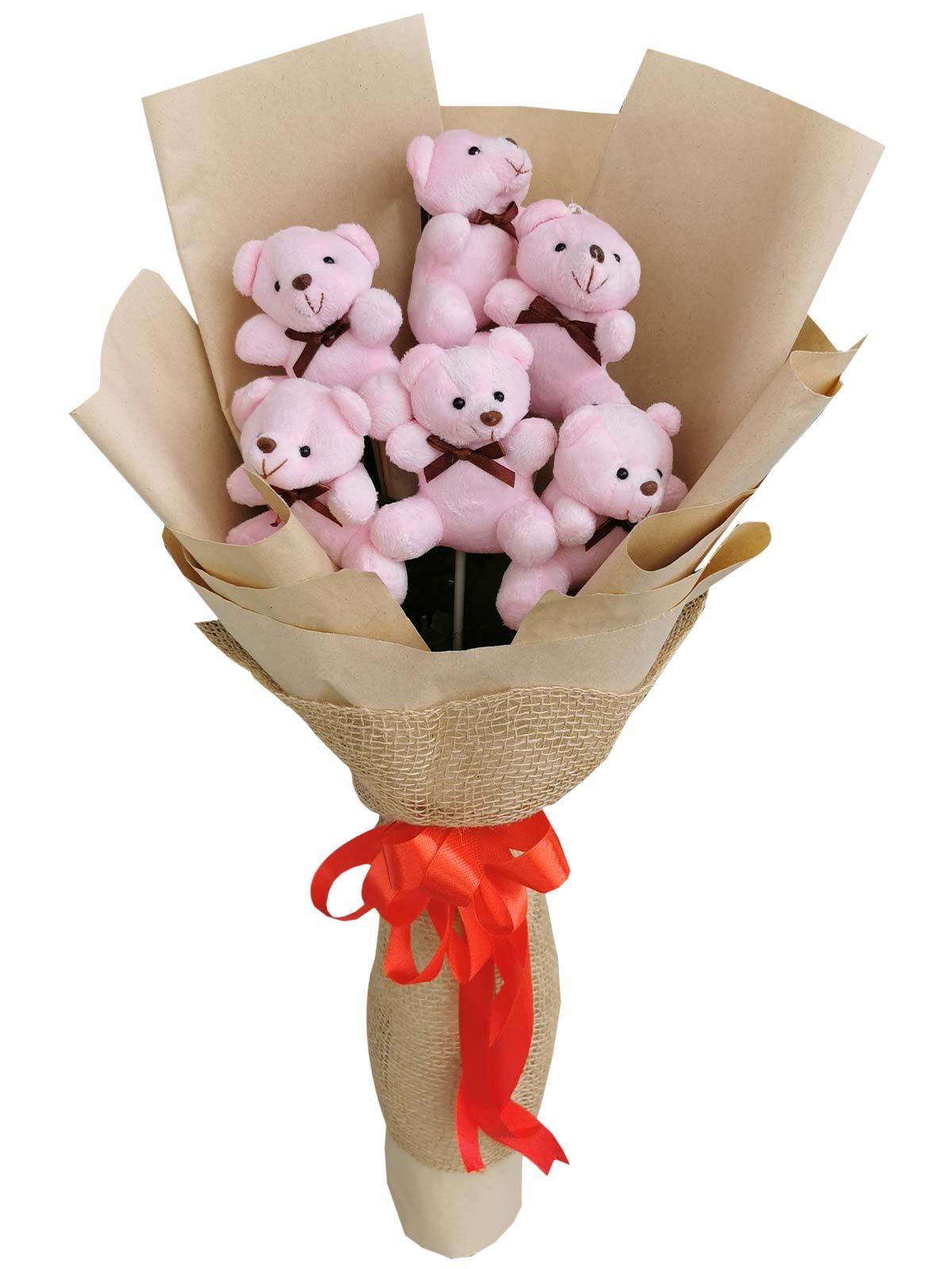 Pink Bears 6 Kraft Jute