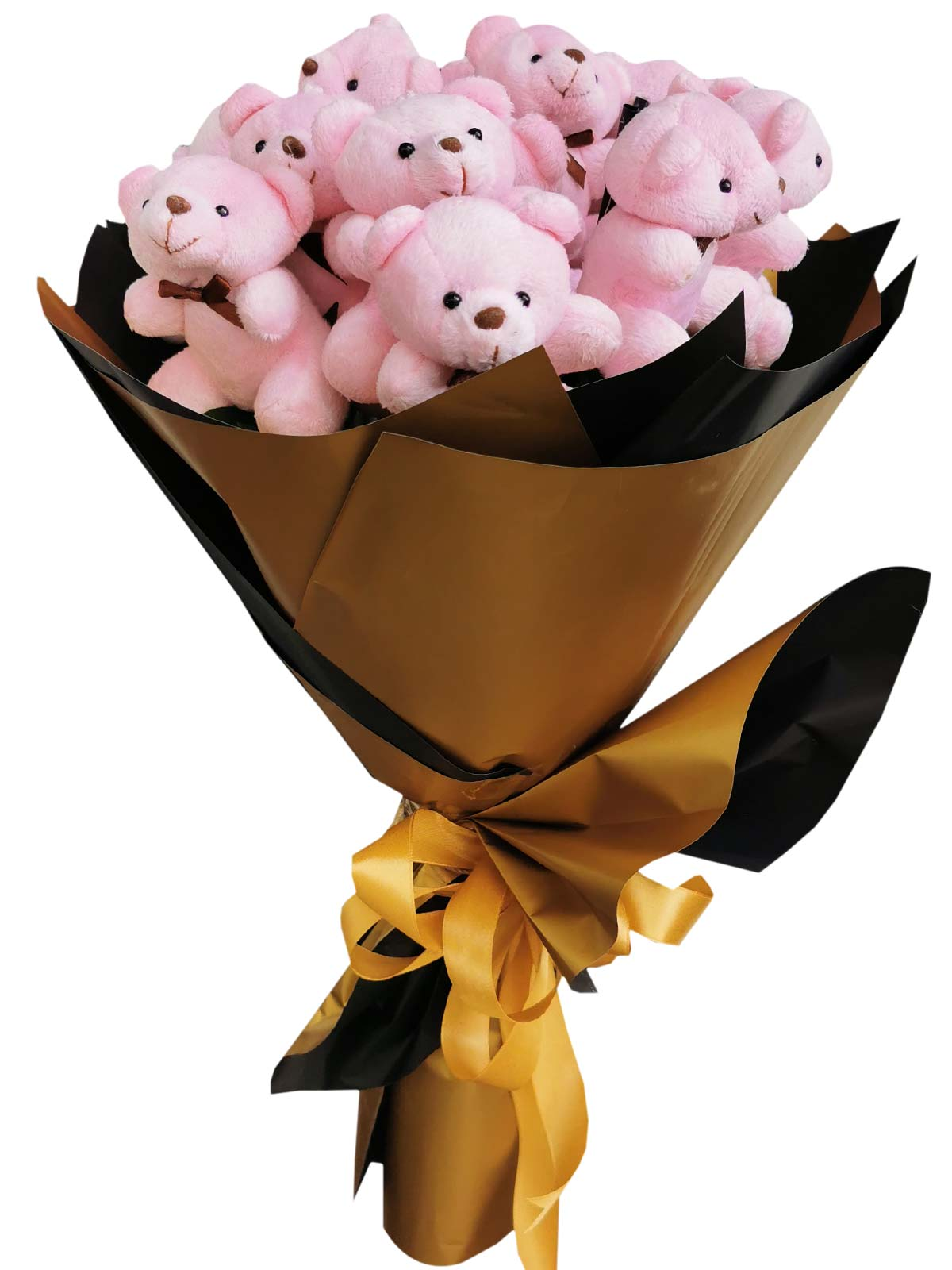 Pink Bears 12 Gold Black
