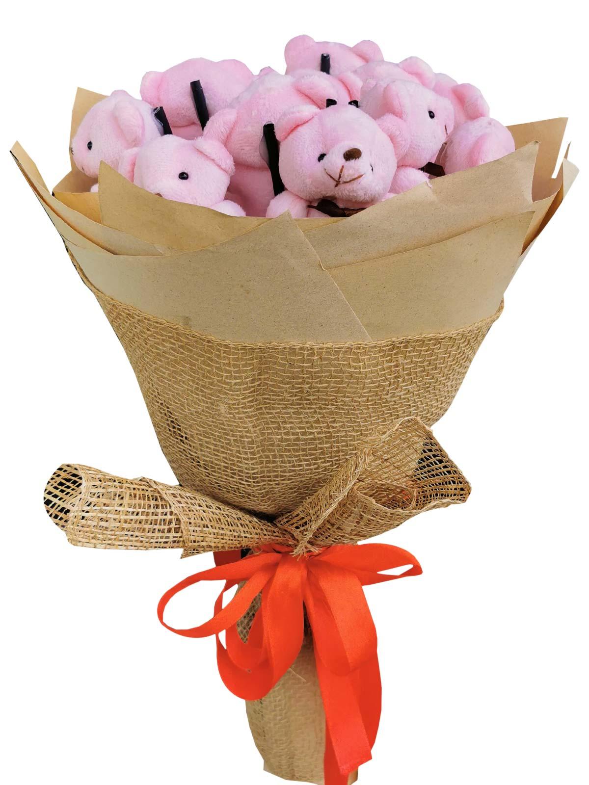 Pink Bears 12 Kraft Jute