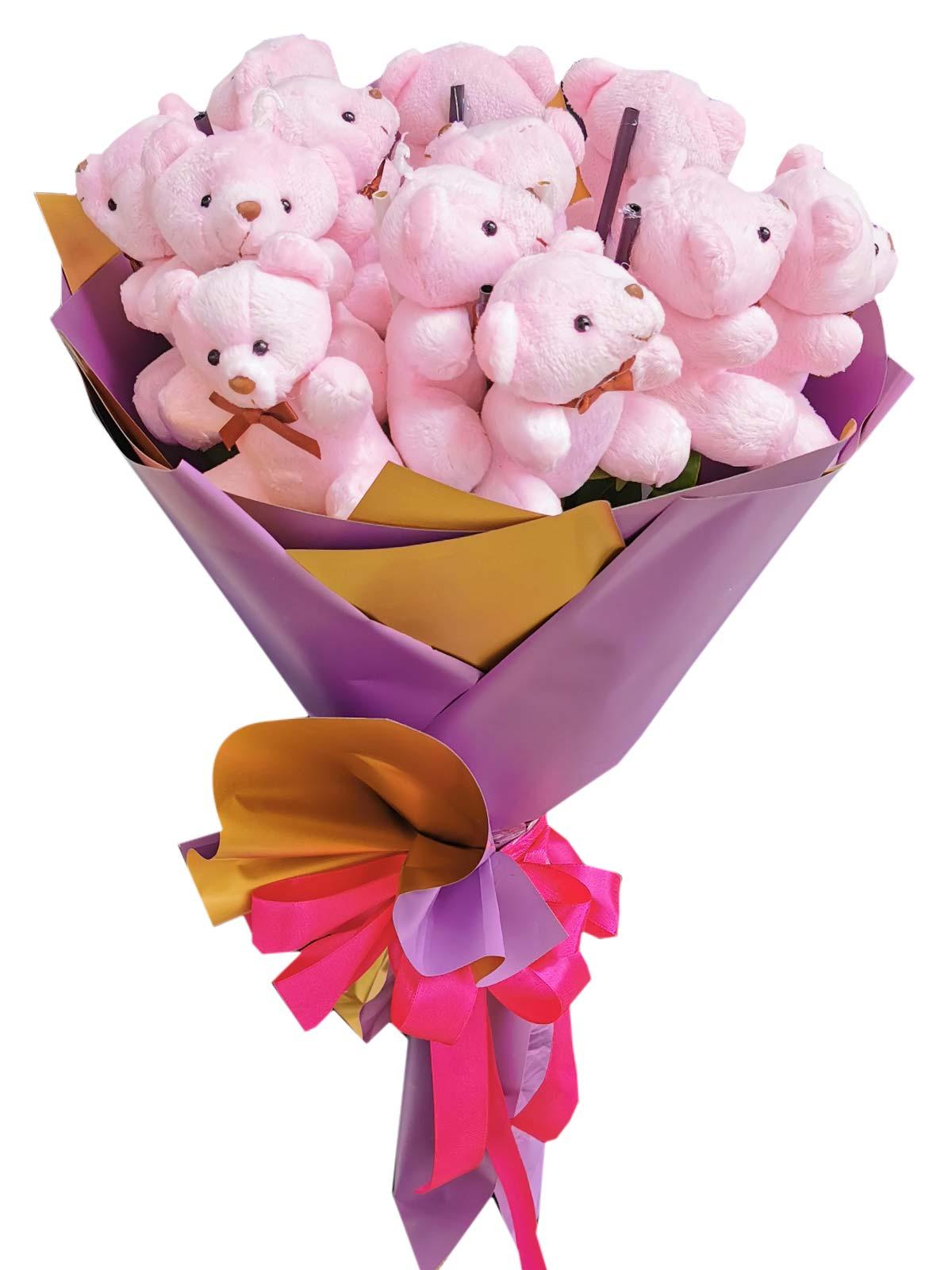 Pink Bears 12 Purple Gold