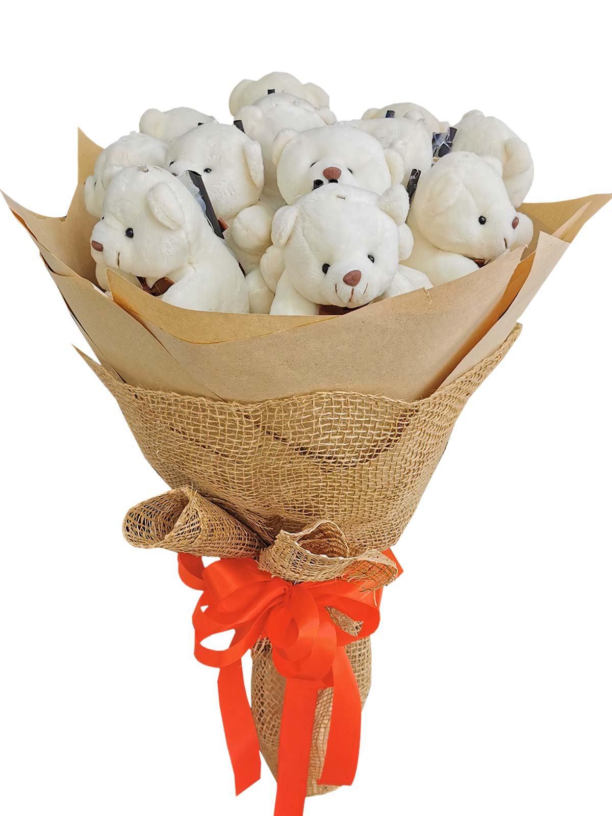 Small White Bears 12 Kraft Jute