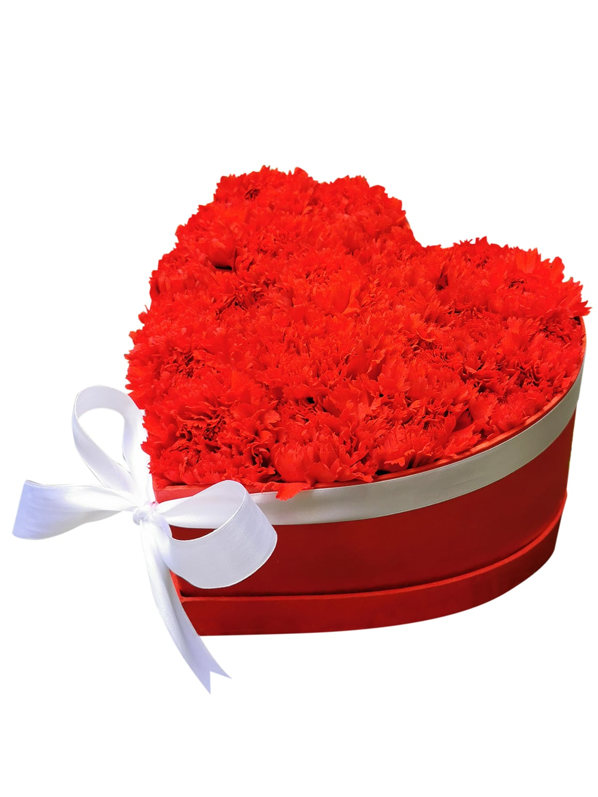 125 Red Carnation Heart Love Box 001