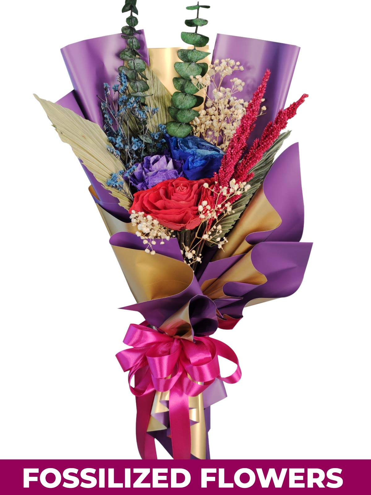 Dried Dark Roses Purple Gold Province