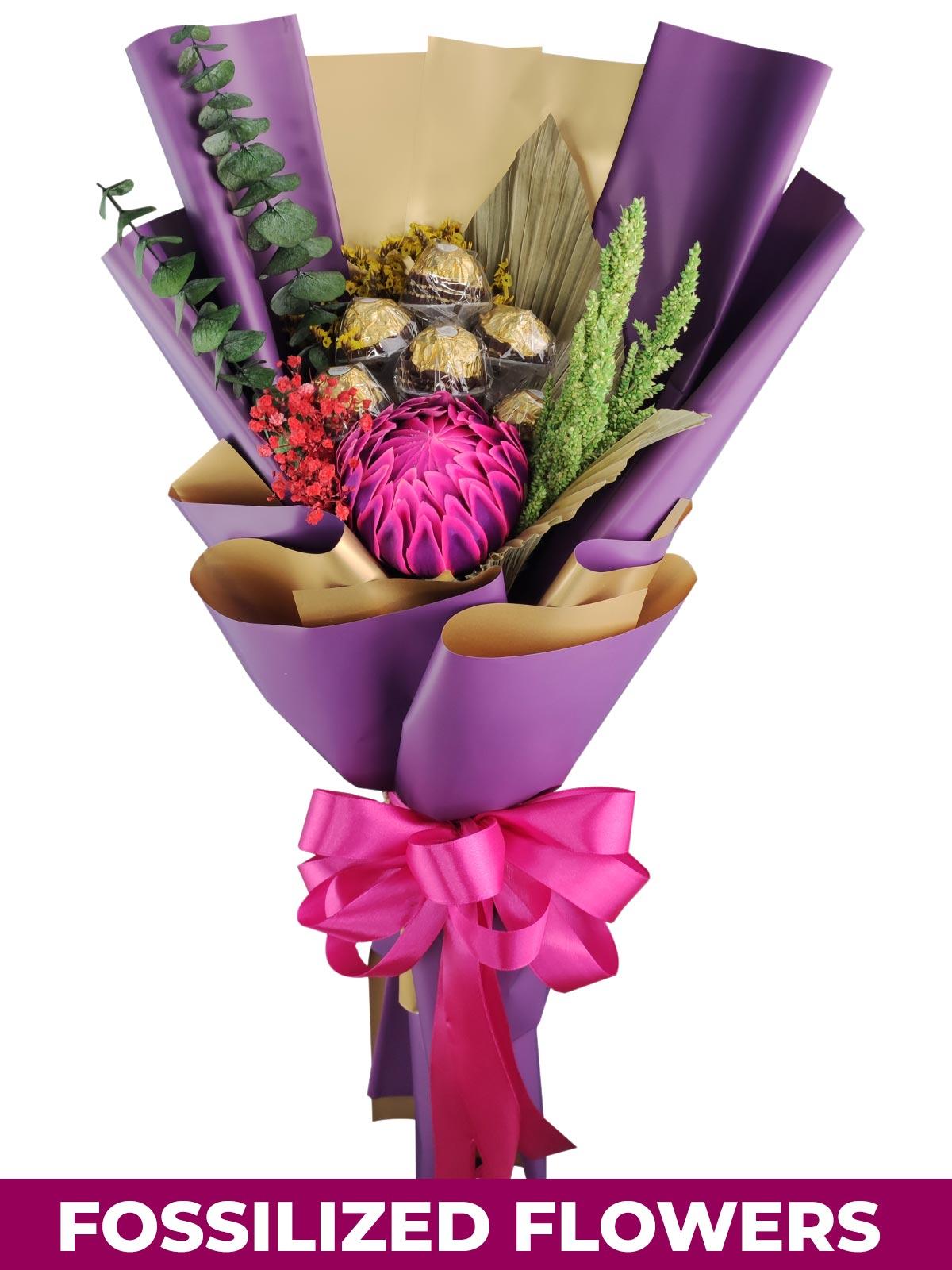 Protea w/ Ferrero Purple/Gold