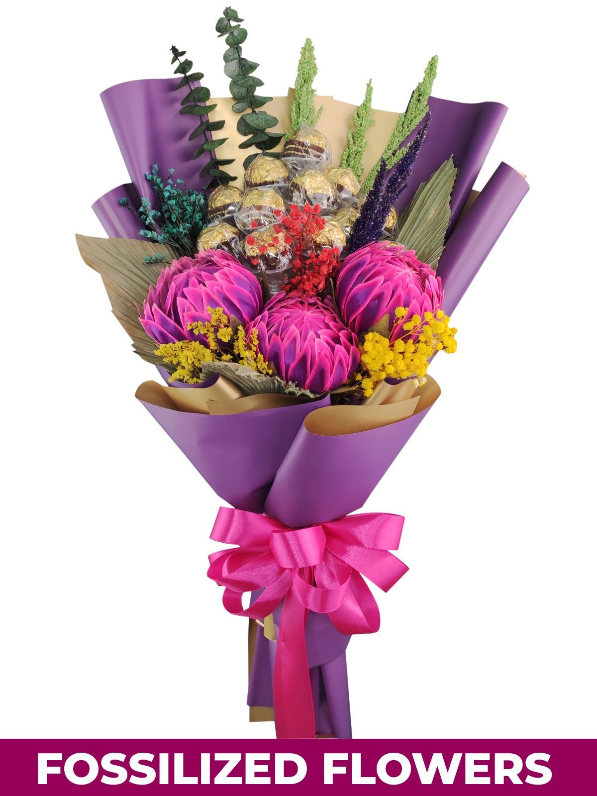 Protea 12 Purple Gold