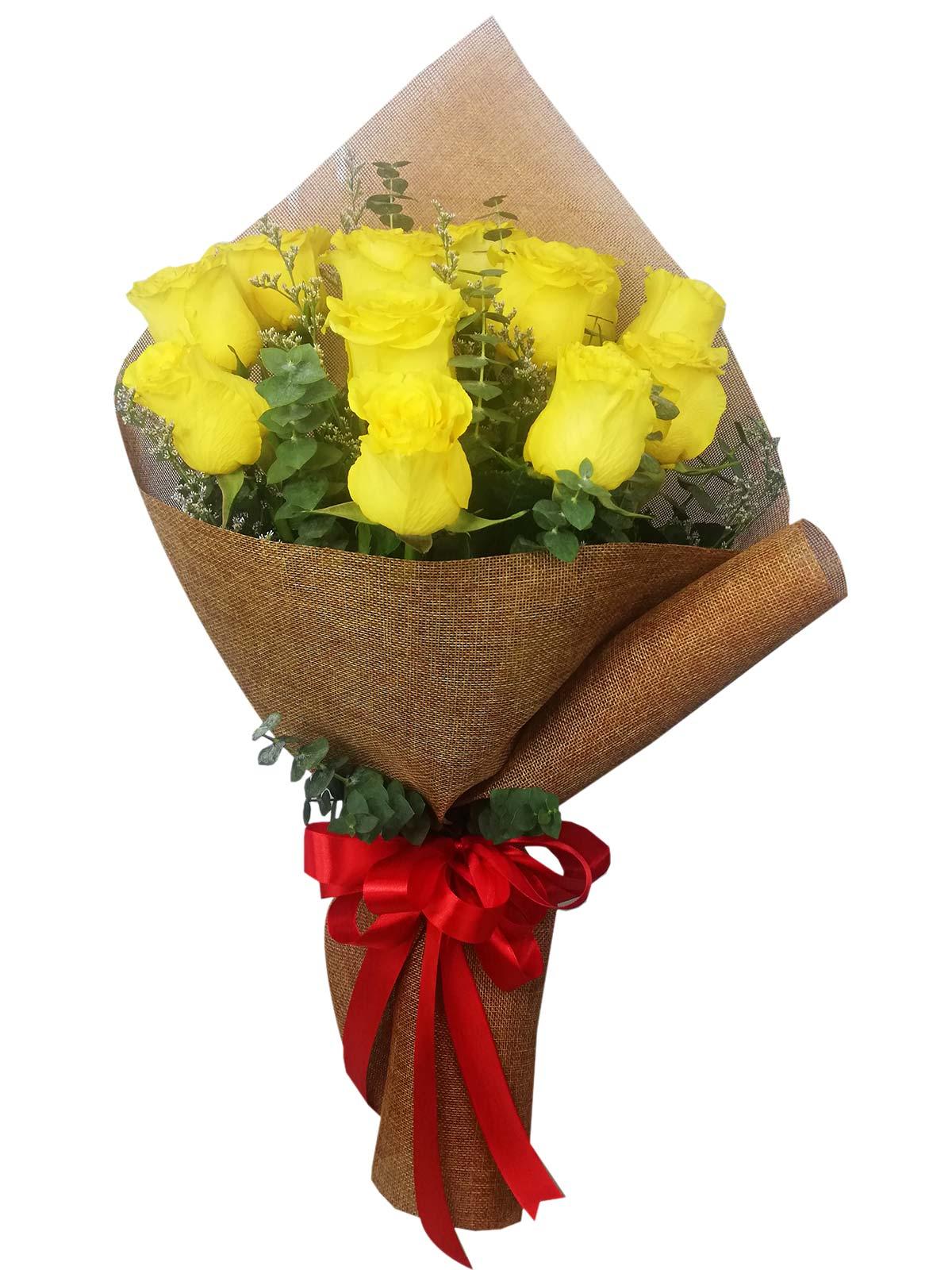 12 Stems Chinese Burlap Rose