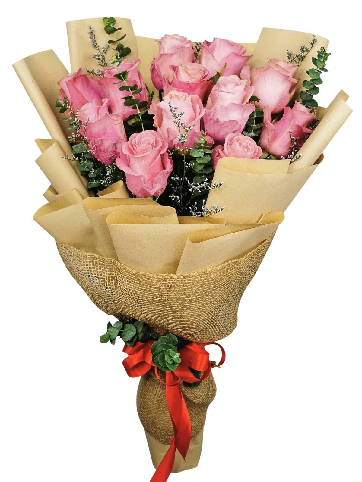 12 Stems Pink Rose