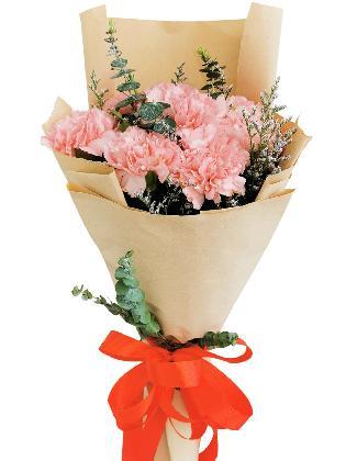 PINK Carnation Kraft Paper