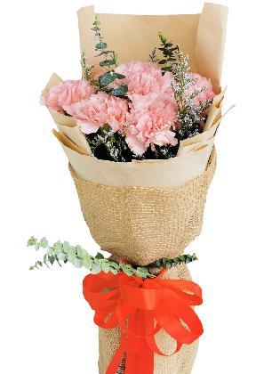 PINK Carnation Kraft Jute