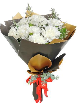 WHITE Carnation Korean Black Gold