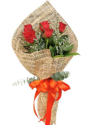 RED Rose 6/12 Burlap Ph