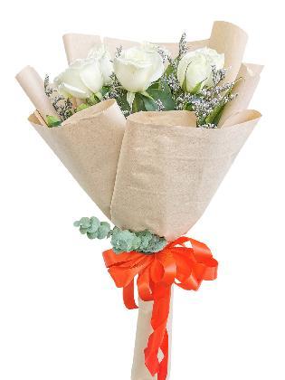White Roses 6/12 Kraft Only