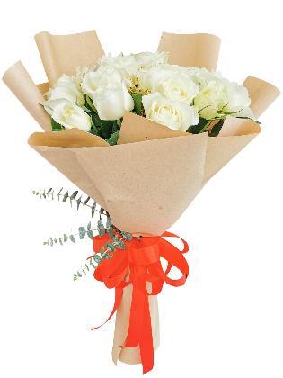 White Roses 6/12 Kraft Jute