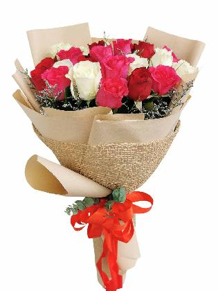 Mix Rose Kraft Jute 24
