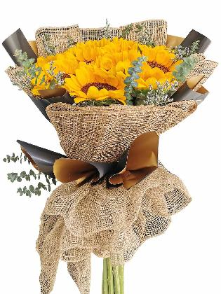 Sunflower Burlap BG 12