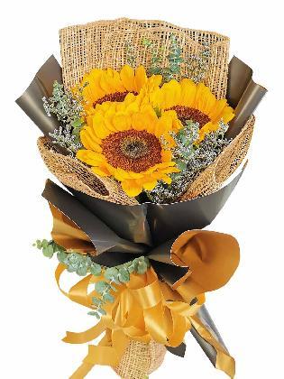 Sunflower Burlap BG 3