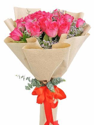 Pink Roses 24 Kraft