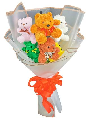 Mix Bears 6 White