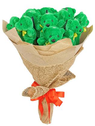 Green Bears 12 Kraft Jute