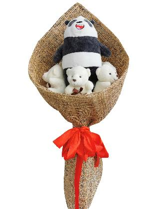 Panda Bare & Bears Burlap PH