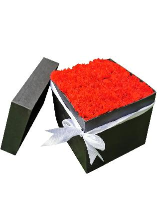 123 Red Carnation Love Box 002