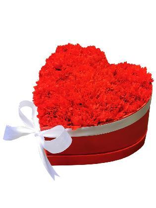 125 Red Carnation Heart Love Box 001