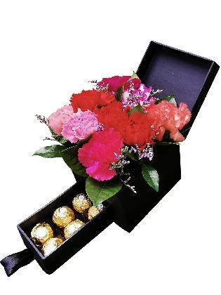 Mixed Carnation Special Love Box