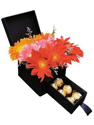 Mixed Gerbera Special Love Box
