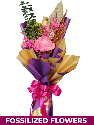 1 Dried Pink Roses Purple/Gold Province